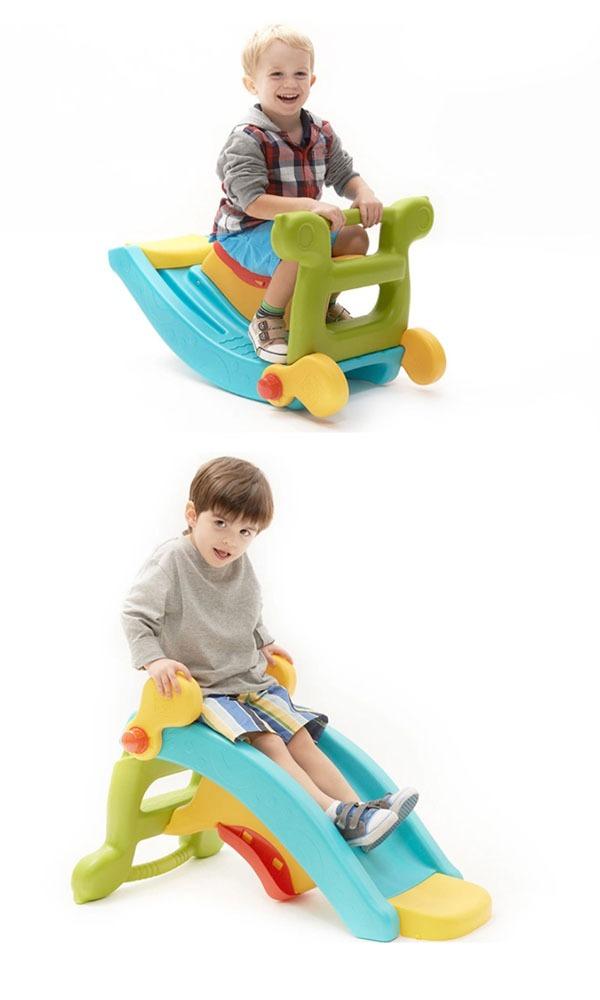 【美國GROWN UP】二合一滑梯 搖搖椅