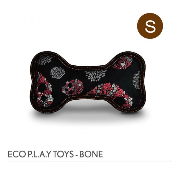 【寵物陪伴、抗憂鬱玩具】P.L.A.Y. 骨頭造型玩具S號-玫瑰骷髏