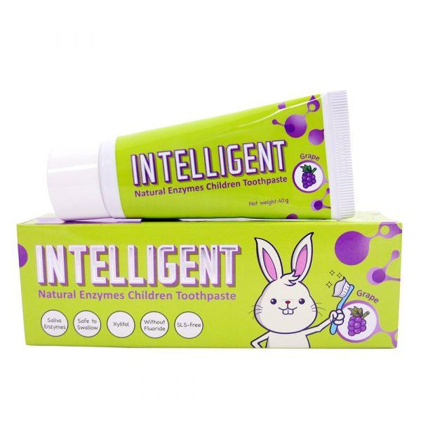 INTELLIGENT 因特力淨兒童酵素牙膏 40g【葡萄】