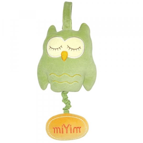 MIYIM有機棉音樂拉鈴 - 歐唷貓頭鷹