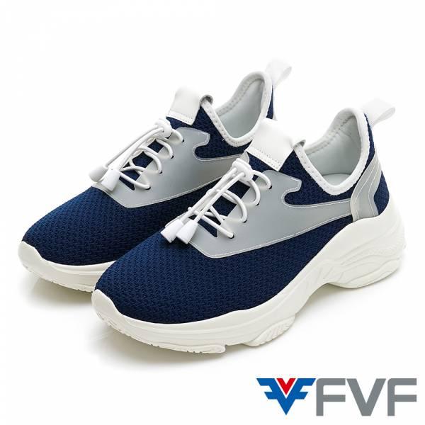 增高健走休閒編織鞋-藍