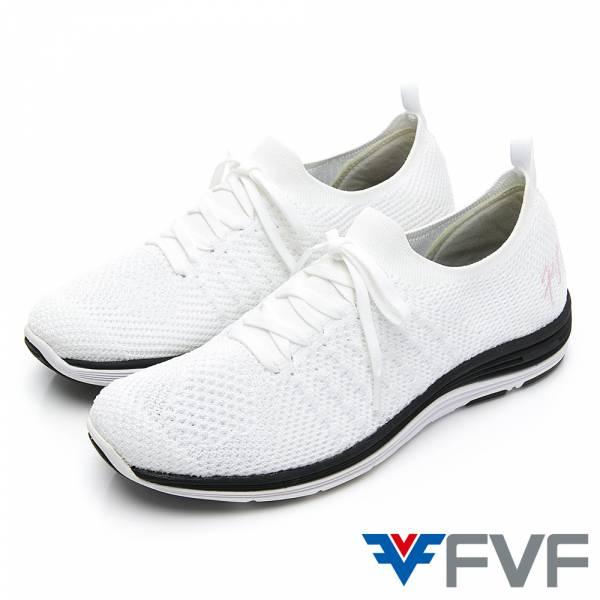 FVF 經典健走編織休閒鞋-白