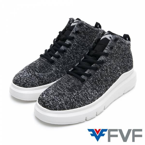 FVF 厚底編織鞋-黑灰