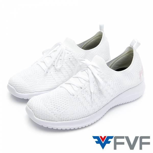 FVF 經典低筒編織休閒鞋-白