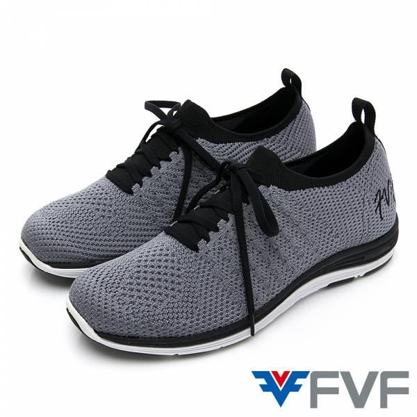 FVF 經典健走編織休閒鞋-灰
