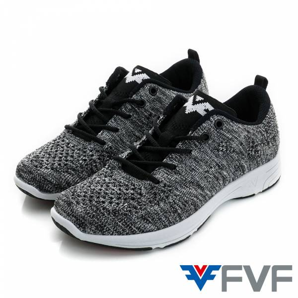 Function機能慢跑編織鞋-黑灰