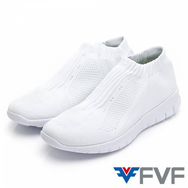 Fad 時尚玩色編織鞋-白