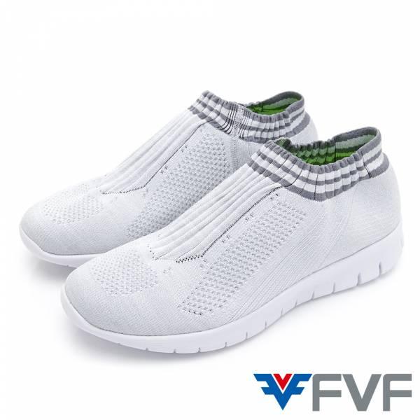 Fad 時尚玩色編織鞋-淺灰