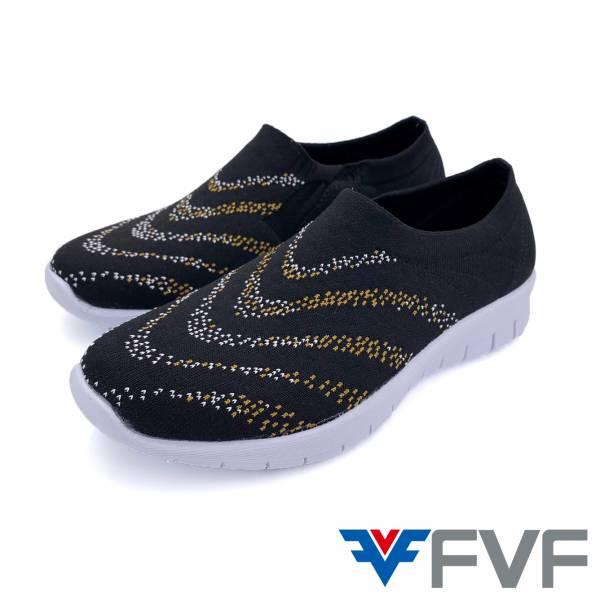 FVF健走編織鞋-黑