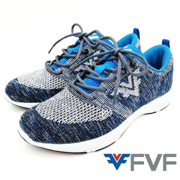 Function機能慢跑編織鞋-混紡藍