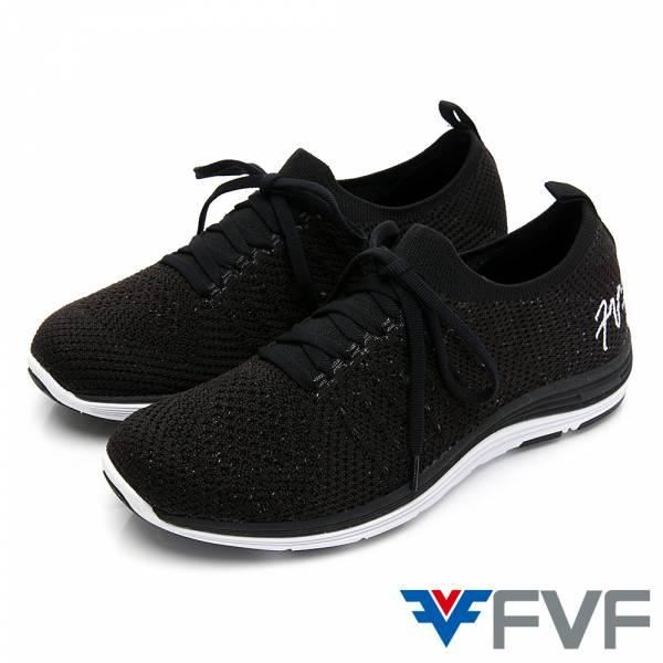 FVF 經典健走編織休閒鞋-黑