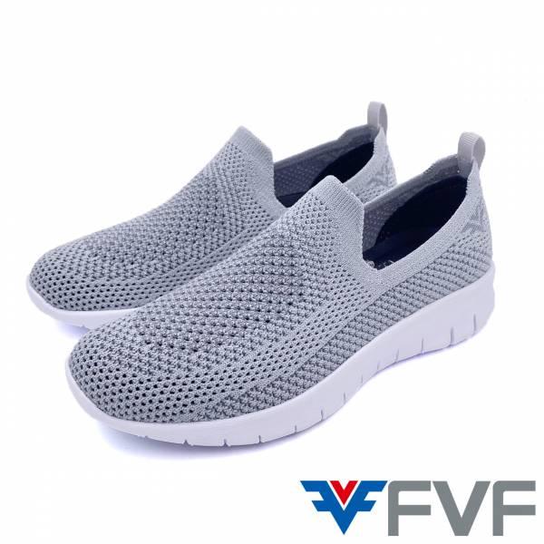 FVF 休閒編織娃娃鞋-灰