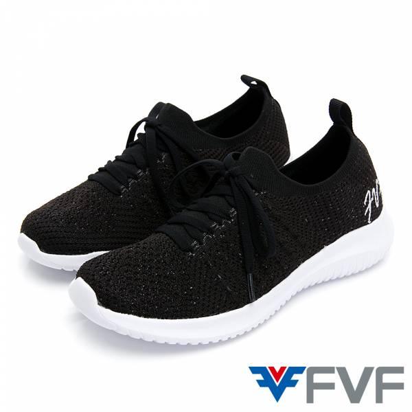 FVF 經典低筒編織休閒鞋-黑