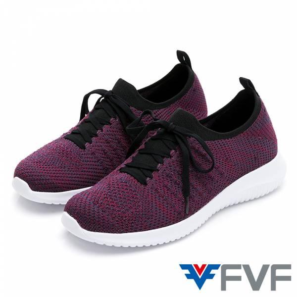 FVF 經典低筒編織休閒鞋-酒紅