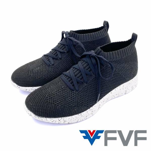 FVF 編織休閒鞋-黑(點點底)