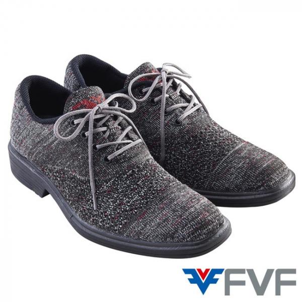 Gentleman 紳士編織鞋-灰紅