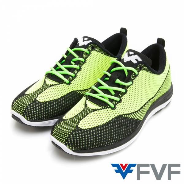 流線包覆編織鞋-綠黑