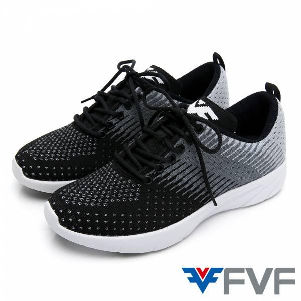 Gradient 漸層設計編織鞋-黑灰