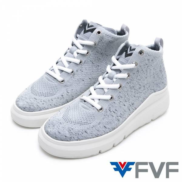 FVF 厚底編織鞋-灰