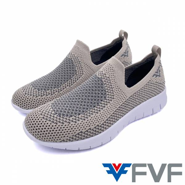 FVF 休閒編織娃娃鞋-棕