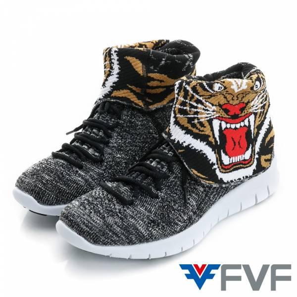 Tiger老虎休閒編織鞋-黑灰