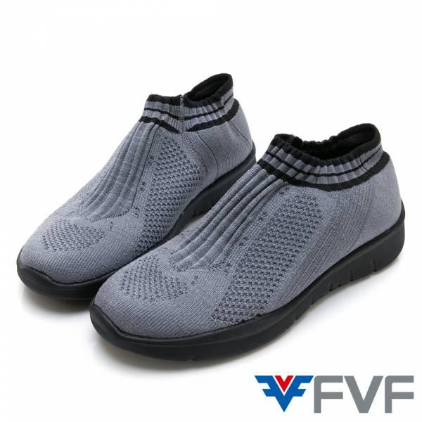 Fad 時尚玩色編織鞋-深灰(黑底)