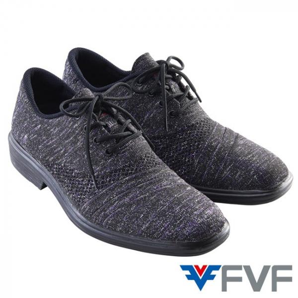 Rock 紳士編織鞋-黑紫