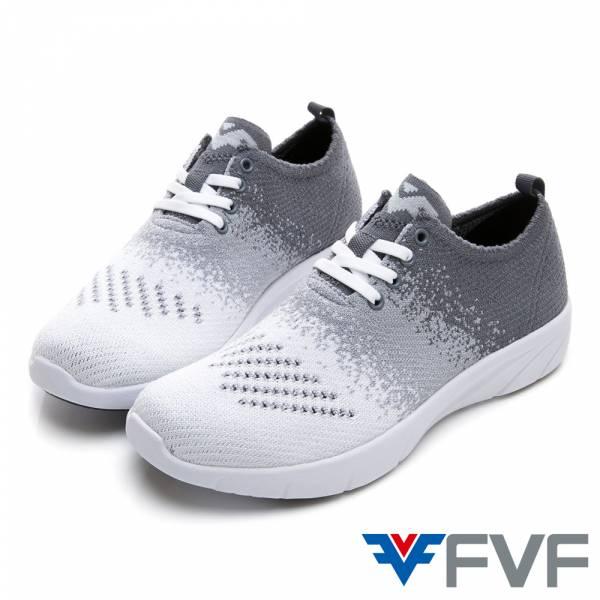 Gradient 漸層設計編織鞋-白藍