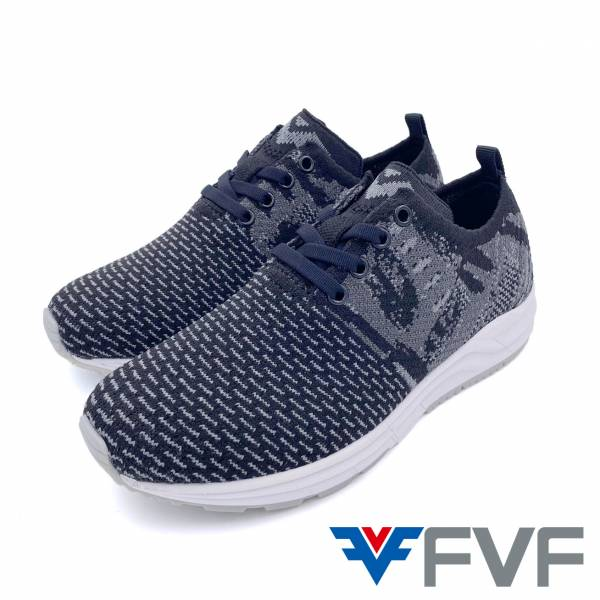 FVF綁帶休閒編織鞋-黑