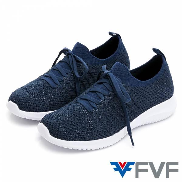 FVF 經典低筒編織休閒鞋-深藍