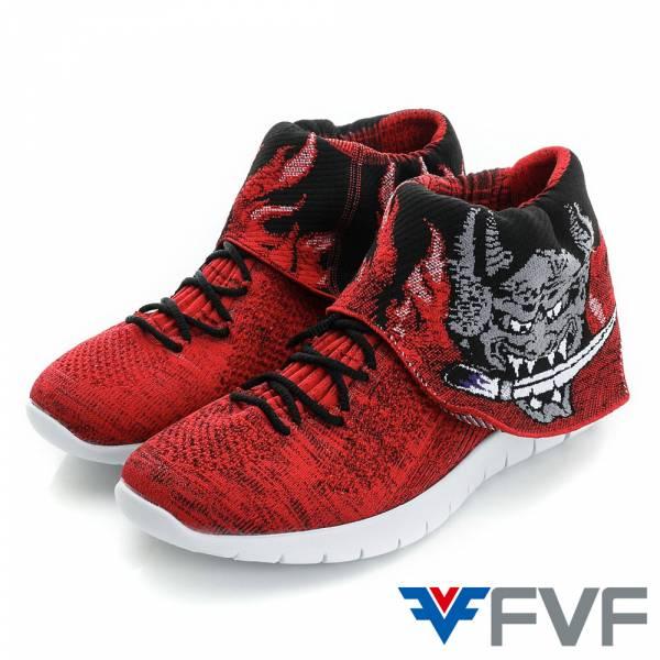 Ghost鬼頭休閒編織鞋-黑紅
