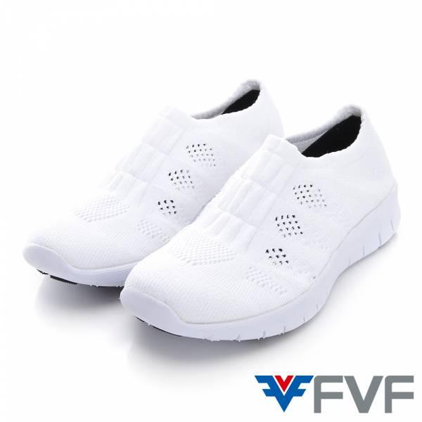 FVF 經典休閒健走編織鞋-白