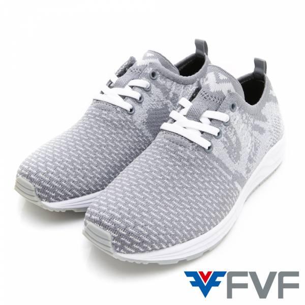 FVF綁帶休閒編織鞋-灰