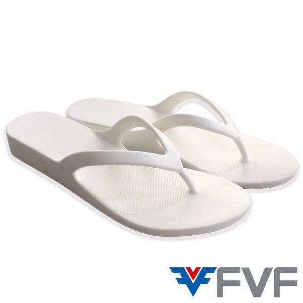 繽紛時尚厚底夾腳拖鞋-白