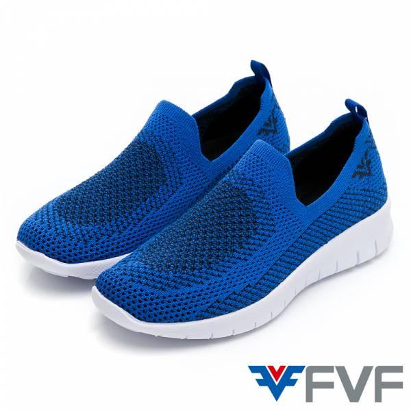 FVF 休閒編織娃娃鞋-藍