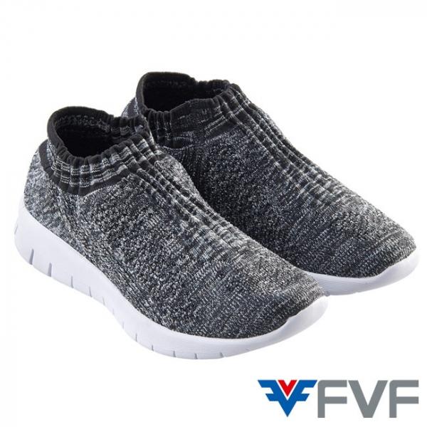 Fad 時尚玩色編織鞋-黑灰
