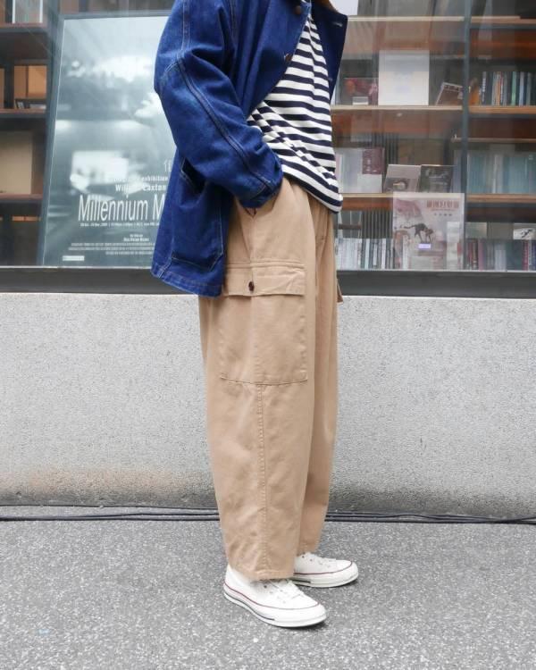 側口袋繭型工作褲 / 5色