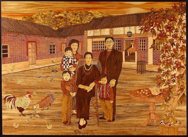 木箔藝術畫作-傳承 畫,藝術,客製化