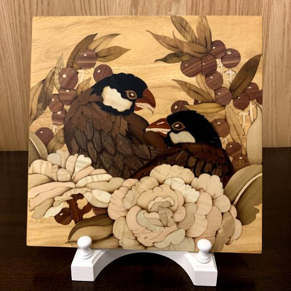 木箔藝術禮品-桌飾擺件-黑文鳥 木箔,藝術,禮品,送禮推薦,愛,客製化