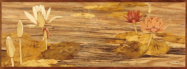 木箔藝術畫作-水蓮 躍 畫,藝術,榮耀,蓮花,英國