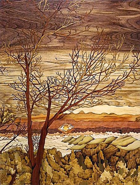 木箔藝術畫作-大自然的美妙 畫,藝術,大自然,美