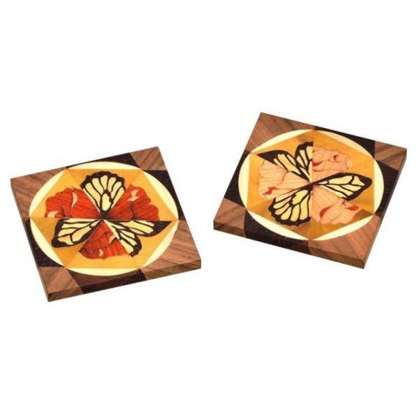 木箔藝術禮品-杯墊-舞蝶 藝術,禮品,生活,杯墊,送禮推薦,蝴蝶,萬花筒
