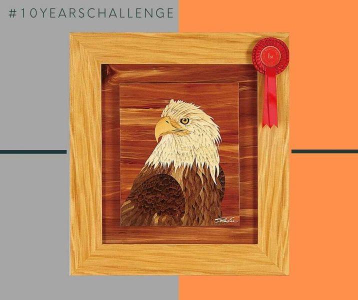 木箔十年回顧 #10yearchallenge 木箔,藝術,畫作,冠軍,老鷹,禮品,送禮推薦