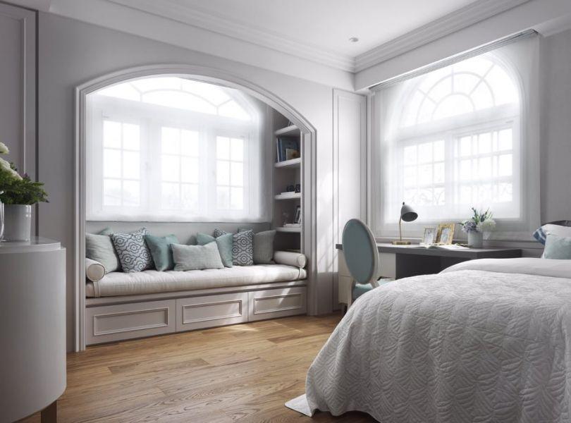 【案例分享 – 私宅空間】 德屋建材,裝潢,案例分享,木地板,海島型木地板,白橡,臥室,室內設計