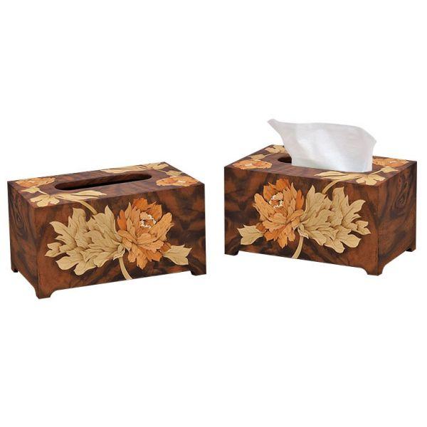 木箔藝術禮品-面紙盒-富貴長隨 藝術,禮品,生活,面紙盒,送禮推薦