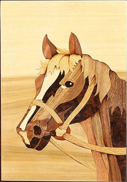 木箔藝術畫作-馬頭 畫,藝術,馬,成功,祝福,送禮推薦,禮物