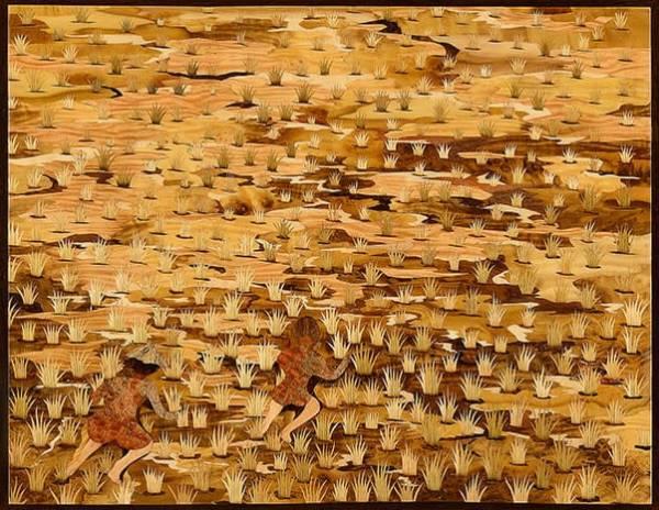 木箔藝術畫作-農村文化系列-挲草 畫,藝術,母親,客製化