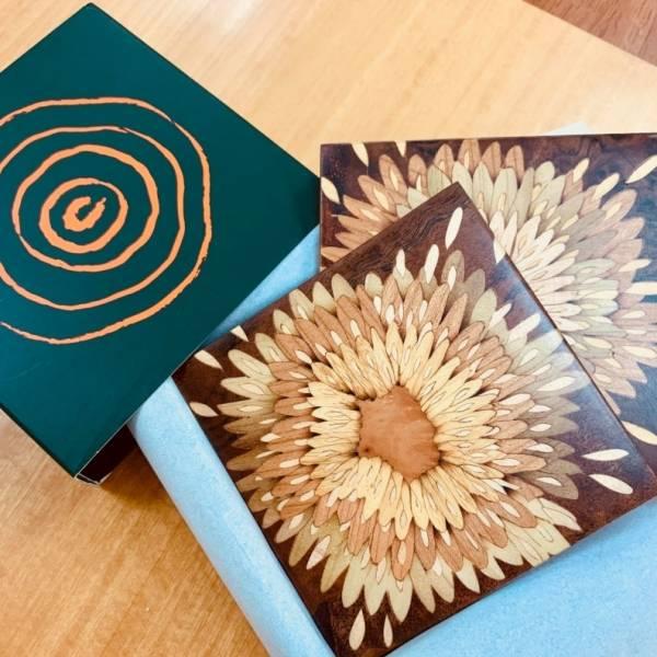 木箔藝術禮品-杯墊-熱情奔放 藝術,禮品,生活,杯墊,送禮推薦