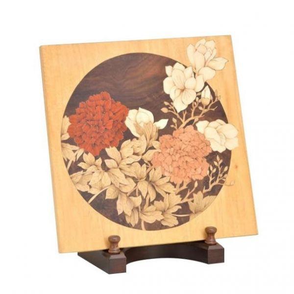 木箔藝術禮品-桌飾-玉堂富貴 藝術,禮品,桌飾,牡丹,送禮推薦