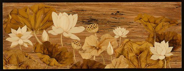 木箔藝術畫作-淨蓮 畫,藝術,蓮花, 家庭空間擺飾,佛堂,淨蓮說,